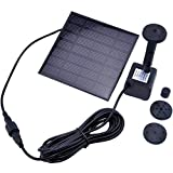beautifulwoman Pump kit pool solar water panel power fountain come with a solar battery and charged