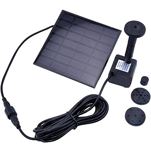 Floating Solar Power Fountain Panel Kit Garden Water Pump Water Panel Power Fountain Pump Kit Pool Garden Pond Watering Submersible by Great supply