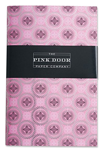 Pink Door Paper Company Embossed Foil-Stamped Notebook, 8 x 5.25-Inches, (Pink Embossed Foil)
