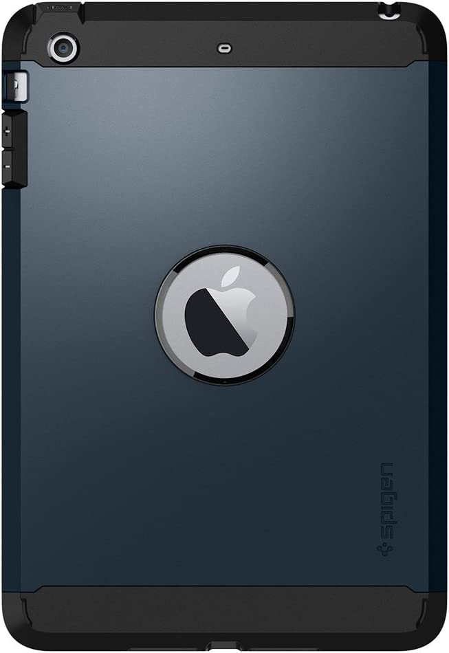 Spigen Tough Armor Designed for iPad Mini 3 Case, iPad Mini 2 Case, iPad Mini Case - Metal Slate