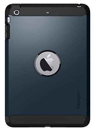 spigen Tough Armor Works con Funda para iPad Mini 3, Funda para iPad Mini 2, Funda para iPad Mini - Metal Slate