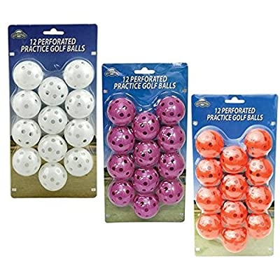 OnCourse 12 pc. Perforated Practice Balls from OnCourse