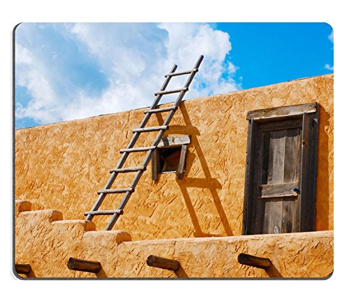 Liili Mouse Pad Natural Rubber Mousepad Ladder on a Southwest style stucco building in New Mexico Photo 5582368
