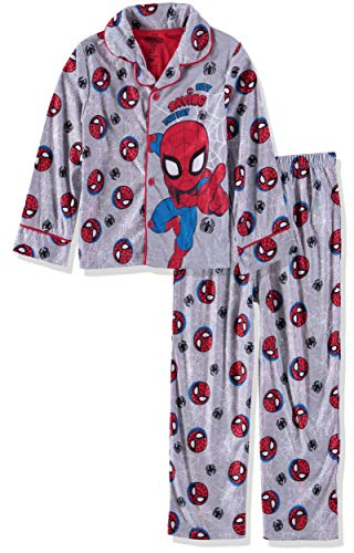 2 Piece Coat Pajamas - Marvel  Boys' Toddler Spiderman 2-Piece Pajama Coat Set, Web Slinger, 3T