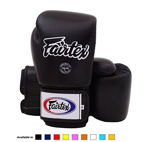 Fairtex Muay Thai Boxing Gloves BGV1 Training & Sparring All Purpose Gloves - Solid Black 14 - Boxing Gloves Twins