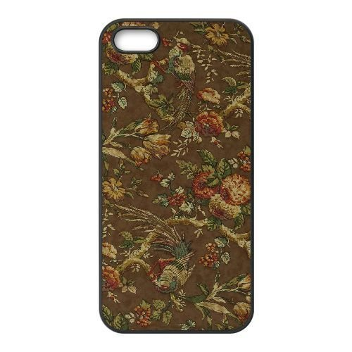 FDXGW620 iPhone 5 5s Cell Phone Case-black_Retro Flower (9)