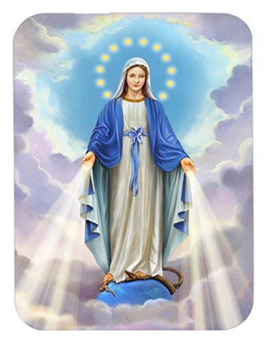 (Caroline's Treasures Religious Blessed Virgin Mother Mary Mouse Pad, Hot Pad or Trivet, Multicolor (APH8805MP))