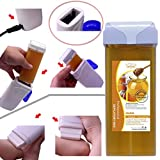 Sunshinehomely Professional Hair Removal Wax, Roll On Hot Depilatory Wax Cartridge Heater Waxing Hair Removal Remove, Honey