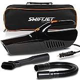 "SwiftJet Car Vacuum Cleaner - 2020 Model - High Powered 5 KPA Suction Handheld Automotive Vacuum - 12V DC 120 Watt - 14.5"" Cord - Multiple Attachments"