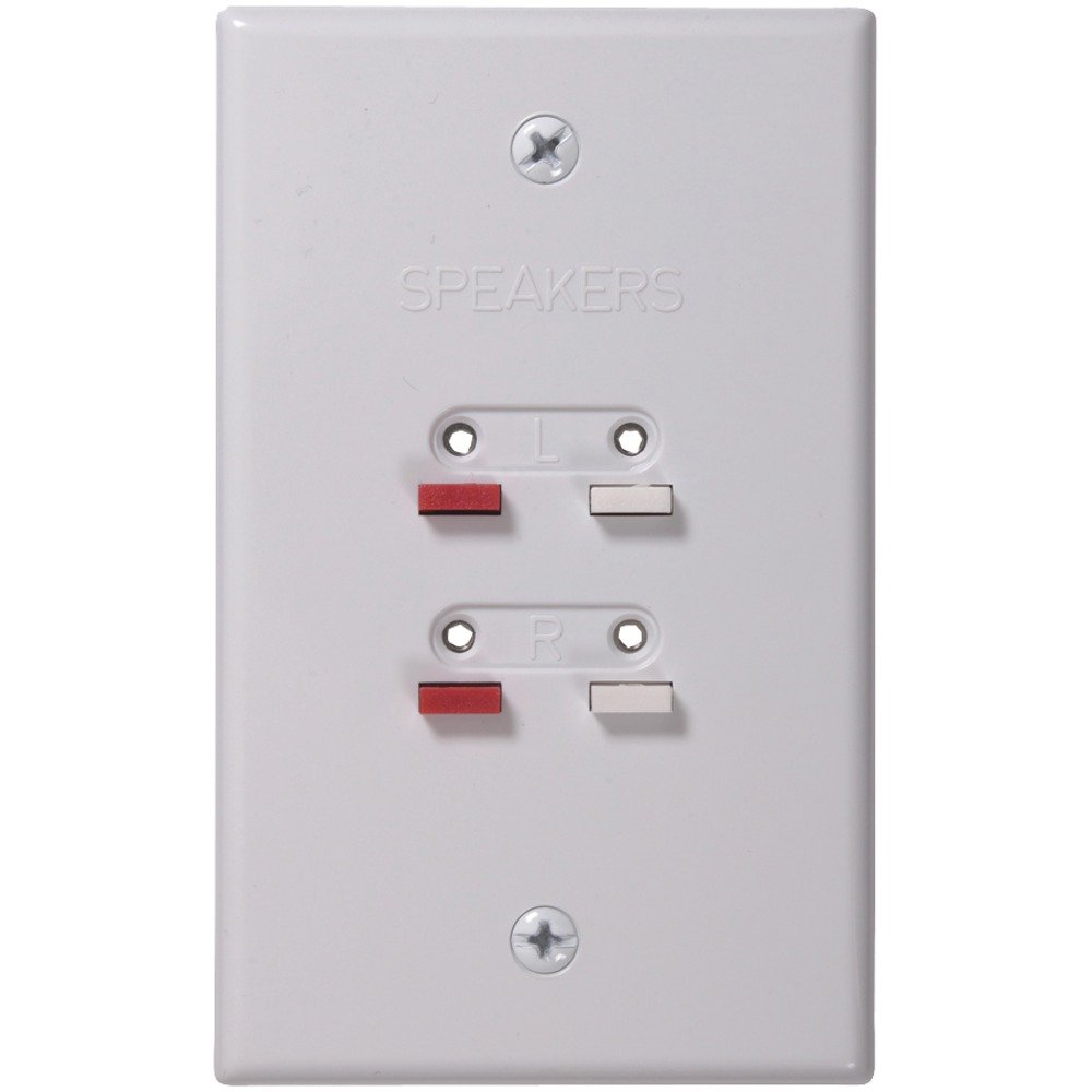 Amazon.com: Audiovox Corporation AH300WHR RCA Speaker Wire Wall Plate -  White: Home Audio & Theater