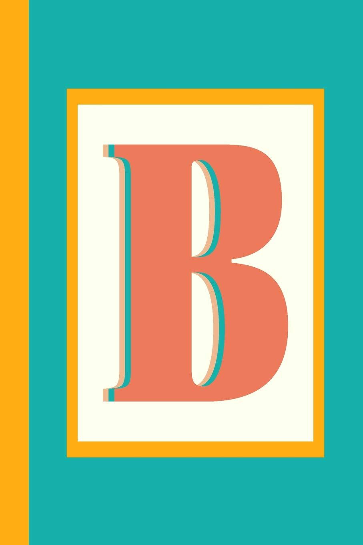 Colorful Retro Block Lettering Initial