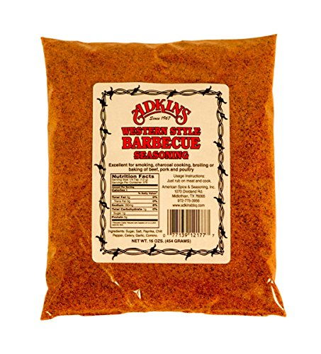 12 Pack By The Case - Adkins Western Style Barbecue BBQ Seasoning 16 OZ All Natural by Adkins