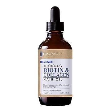 d98265db02c Amazon.com: Joanne Jones Thickening Biotin & Collagen Hair Oil 120 ...