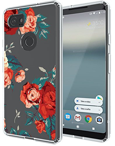 Google Pixel 2 XL Case, SWODERS Flower Clear...