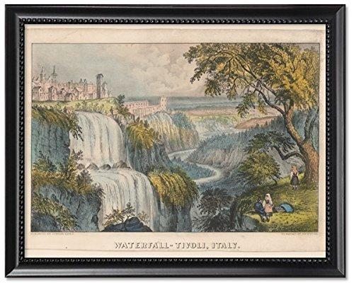 Framed Print 8x10: Waterfall--Tivoli, Italy, circa 1856