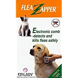Electronic Flea Comb Detects and Kills Fleas Safely