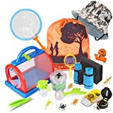 Outdoor Explorer Kit & Bug Catcher Kit with Binoculars, Flashlight, Compass, Magnifying Glass, Critter Case and Butterfly Net Great Toys Kids Gift for Boys & Girls Age 3-12 Year Old Camping Hiking