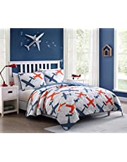 Kute Kids Children's Quilt Set - Multiple Styles for Boy's and Girl's Beds with Fun Designs and Colors to Match with Sheet Sets