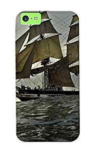 Markrebhood Fashion Protective Sail Ship Case Cover For Iphone 5c