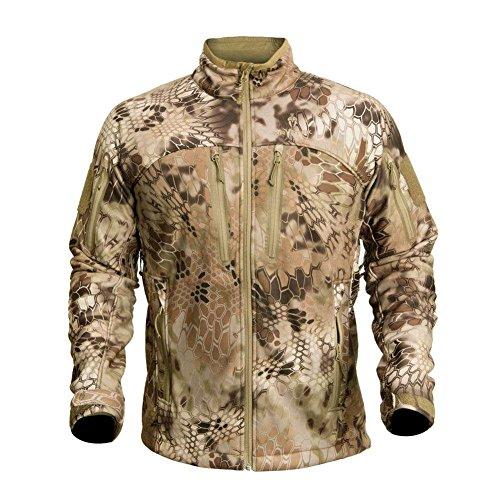 Kryptek Men's Waterproof Cadog Shield Jacket, Highlander, - Duck Active Fleece Jacket