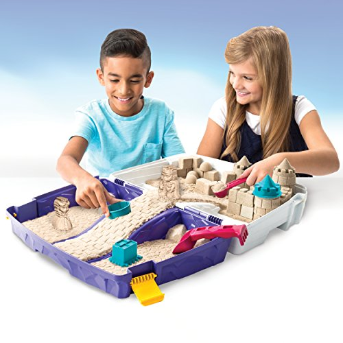 51Tk49fZZyL - The One and Only Kinetic Sand, Folding Sand Box with 2lbs of Kinetic Sand