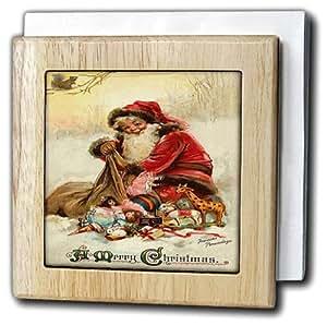 3drose nh 46994 1 vintage christmas christmas for Christmas wall art amazon