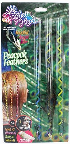 (SpaghettiHeadz™ Peacock Feathers 3 Pack)