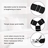 Bed Sheet Fasteners, 4 PCS Adjustable Triangle