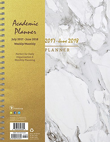 2018 Academic Year Marble Large Weekly Monthly Planner