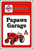 Allis Chalmer Tractor Sign PAPAW'S SHOP (10 inch x 14 inch) (8x12) (10x14) (10x14) (10X14)