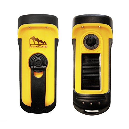 Mini Portable Hand Crank Dynamo 3 LED Solar Powered Flashlight Camping TorchUP