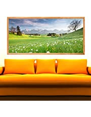 Decorative Poster - Fields of wildflowers (55x120 cm)