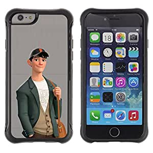 "Pulsar iFace Series Tpu silicona Carcasa Funda Case para Apple iPhone 6+ Plus(5.5 inches) , Muchacho Lindo Friendly Art Dibujo Moda Casual"""