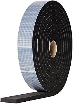 Grau EPDM Zellkautschuk selbstklebend grau 5x2mm Zellkautschuk Moosgummi selbstklebend Dichtungsband Pro Rolle Zellkautschukb/änder