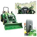 """Tractor Loader Mirror Assembly w/Brackets LH and RH 12"""" x 7"""" Mirrors John Deere 420 200CX 430 300 410 300 X 210 460 New Holland 270TL 240TL 250TL 260TL"""