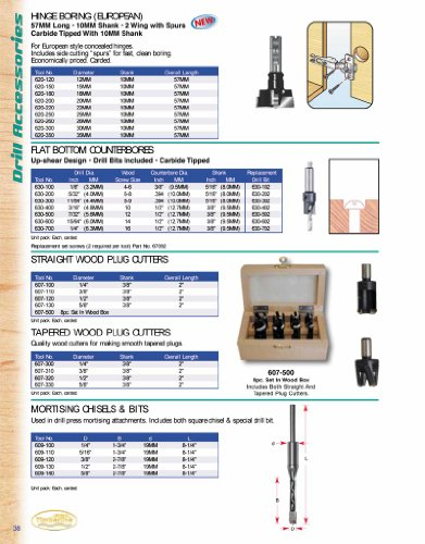 Timberline 630-100 Flat Counter-Bore