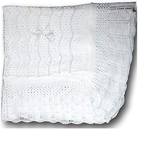 Elegant Baby Christening Shawl, Baptism Blanket 40