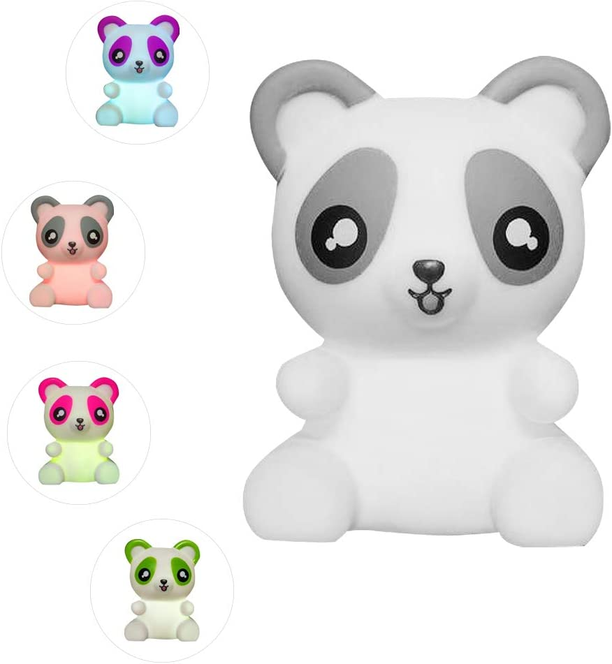 ArtCreativity Color Changing Panda LED Lamp, Night Light Cycles Through Awesome Colors, Battery-Operated Decorative Light for Kids, Bedroom Decor Nightlight for Boys and Girls