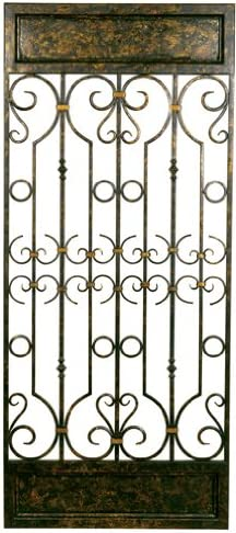 Welcome Home Accents Aged Bronze Decorative Scrolled Metal Wall Panel