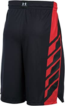 Under Armour UA Men/'s Select Athletic Performance Basketball Black Yellow Shorts