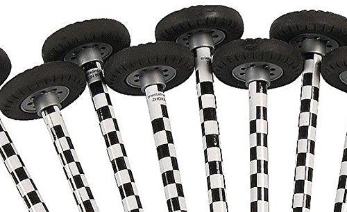 Fun Express Checkered Race Car Pencils with Wheel Erasers - 12 pc
