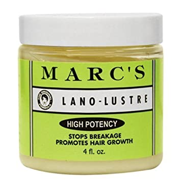 Marc s Lano-Lustre High Potency, Stops Breakage Promotes Hair Growth 4oz