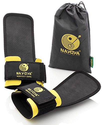 Nayoya Weight Lifting Straps With Built in Adjustable Wrist Support Wrap and Palm Protecting Grip Pads