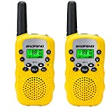 Ammiy BaoFeng BF-T3 Kids Walkie Talkie 22 Channel FRS/GMRS UHF Long Range Two Way Radio (2 pack of radios) Yellow