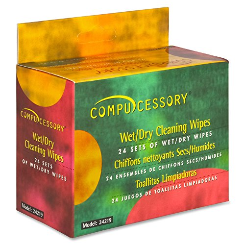 Amazon.com: Compucessory LCD/Notebook Computer Screen Cleaning Wipes (CCS24219): Office Products