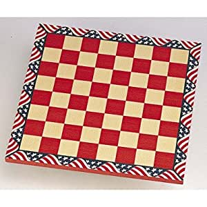 Chess Board in Red & White