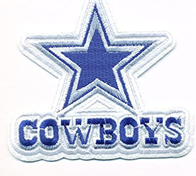 Dallas Cowboys Logo Football NFL Embroidered Iron On Patches Hat Jersey 4 Inches