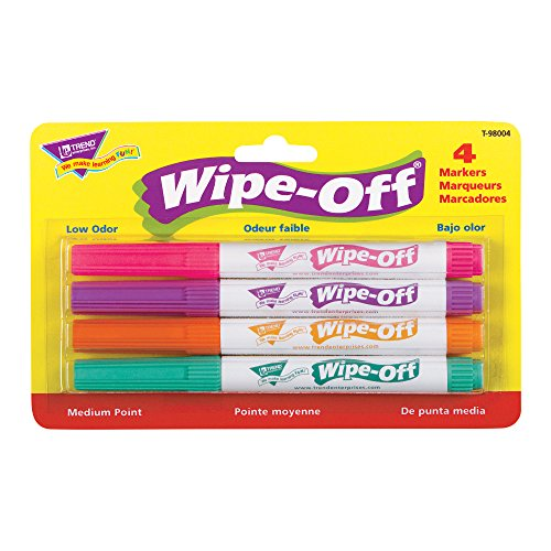 enterprises 4 Pack Bright Wipe Off Markers product image