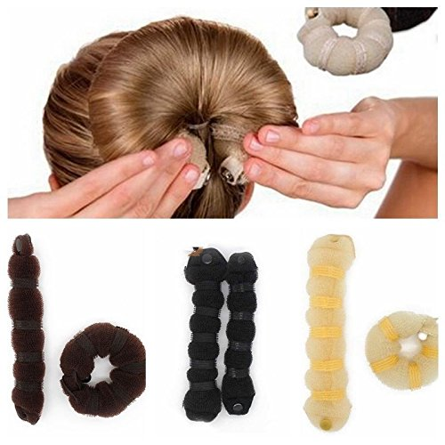 JD Million shop 2Pcs/Set Women Ladies Magic Style Hair Styling Tools Buns Braiders Curling Headwear Hair Rope Hair Band - Watches Outlet Oakley