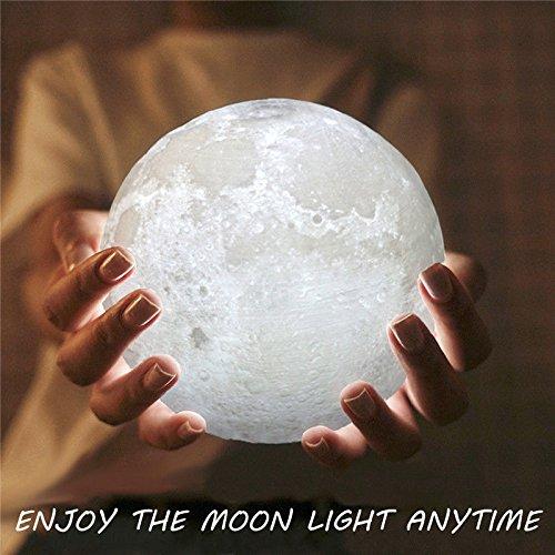 Bren SL 15 cm 3d USB LED Moon Nightランプウォームホワイトライト変更テーブルデスクギフト B0778CYKX9 16964